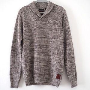 Scotch & Soda shawl collar knit sweater